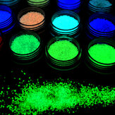 1 bouteille Dancingnail Luminous Nails Powder Halloween Fluorescent Glow Décoration Dust Colorful Manic