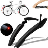 2 Pcs Bike Fender Front Rear Bicycle Mud Guard Cycling Tire Mudguard with Lights Mountain Bike Mudguards