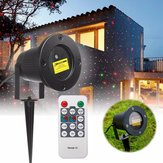 R & G LED Laser Projetor Stage Light remoto Waterproof Outdoor Landscape Garden Yard Decor