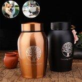 Memorial Pet Ashes Urn Holder Creative Stainless Steel Leak-proof Storage Jar
