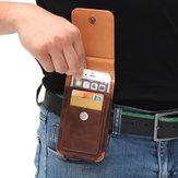 Adam İş PU Telefon Çanta Kart Çanta Cüzdan Purse Çift Kullanımlı Bel Çanta