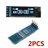 2Pcs Geekcreit 0,91 Polegada 128x32 IIC I2C Azul OLED LCD Display Módulo Oled DIY SSD1306 Driver IC DC 3.3V 5V