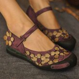 Femmes Casual Flower Loafers Soft Chaussures plates