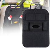 Car Seat Back Mat Front Seat Storage Organizer Felt Tablet Phone Pocket Bag