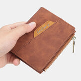 Men PU Leather Multi-card Slot Casual Thin Money Clip Card Holder Wallet