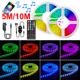5/10M 12V LED Strip Lights 5050 RGB COLOUR CHANGING bluetooth APP Remote Music Smart Strips Christmas Decorations Clearance Christmas Lights