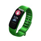 XANES® C1S 0.96 inç IPS Renkli Ekran IP67 Su Geçirmez Akıllı Saat Kalp Kan Oksijen Oranı Monitör Fitnes Egzersiz Sporları Bileziği