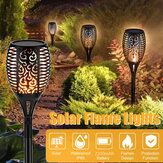 12/33/51/96LED Solar Light Outdoor Waterproof Flashing Flame Lawn Lamp for Garden Camping