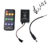 9 Keys Music Controller для WS2811 WS2812B LED Полоса света с мужчинами постоянного тока Провод DC5V-12V
