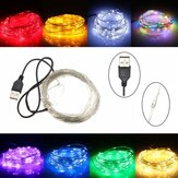 10M 100 LED USB zilver draad flexibele String Fairy licht Christmas Wedding Party Decor