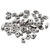 Drillpro 50pcs M3 T Sliding Nut Zinc Plated Carbon Steel T Sliding Nut for 2020 Aluminum Profile