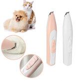 USB قابلة للشحن الكهربائية الحيوانات الأليفة مسمار الشعر المتقلب المطحنة القط والكلب الاستمالة أداة قص القص الكهربائية