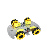 SNC380 Aluminum Alloy RC Robot Car Chassis Base with Mecanum Wheel