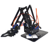4DOF Assembling Acrylic Mechine Robot Arm with SG90 Plastic Gear Servo For Robot DIY