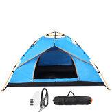 3-4 Pessoas Barraca de Camping Totalmente Automática Dobrável Resistente à Água Ao Ar Livre Caminhadas Viagem