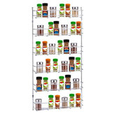 6 Layers Kitchen Spice Storage Rack Organizer Shelf Pantry Wall Mounted Hanging Holder