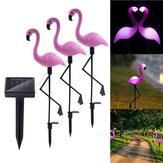 Solar Flamingo Stake Light Lantern Solar Powered Pathway Lights Outdoor Waterproof Garden Decorative Lawn Yard Lamp