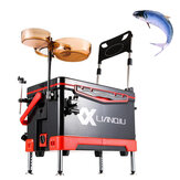 Multifunctional 40L Fishing Box Four-Leg Lifting Live Fish Container Fishing Accessories Storage Case Fishing Hook Magnetic Sucker with 4 Wheels Fishing Chair
