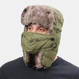 ユニセックスPlus厚く暖かい防風イヤーフェイスプロテクション屋外野球帽トラッパーハット