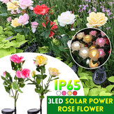 Solar Powered Artificial Rose Flower LED Lawn Light Outdoor Courtyard Garden Decoration