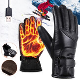 IPRee® 4-Modes Control USB Plug Electric Heated Gloves Touchscreen Winter Hands Warmer Thermal Glove Windproof For Skiing Cycling Motorcycles