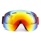نظارات التزلج على الجليد عدسة مزدوجة لمكافحة الضباب UV400 دراجة نارية للجنسين الكبار الرياضة نظارات