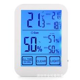 LCD Digital Touch Screen Indoor Thermometer Hygrometer Temp Humidity Meter Light