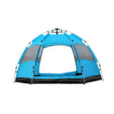3-5 Person Fully Automatic Tent Waterproof Quick Open Tent Outdoor Family Camping Hiking Fishing Tent Sunshade-Orange/Green/Blue