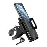 ROCK 360° Adjustable Drop-proof Phone Holder with Fasten Clip for Bicycle/Motorcycle/Electric Vehicle Suit For Phone Width of 48mm-94mm