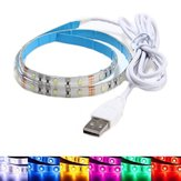 50CM Waterproof USB SMD3528 TV Background Computer LED Strip Tape Flexible Light DC5V