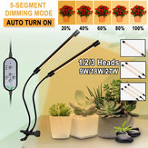 2/3/4 Heads 5730 USB LED Plant Grow Light Dimmable Timer 360° Flexible Clip Hydroponic Garden Desk Tube Lamp