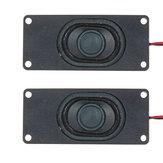 2 Pcs 3 Polegadas Altifalante Bass Vibratório Speaker Unidade 3 W 4Ohm para Computador LCD TV