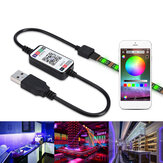 1-5M USB LED Lights Strip 2835 RGB APP Control IP65 Waterproof TV Back Light Waterproof