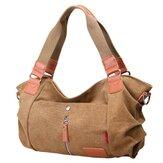 Kvinder Lærred Håndtasker Casual Skuldertasker Kontrast Farve Crossbody Tasker