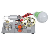 Hot Air Stirling Engine Steam Heat Model Motor Generator Educational Toy +Light