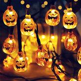 2m 10LED Halloween Pumpkin Caveira LED Light String Festival Bar Decoração de festa em casa Ornamento de Halloween