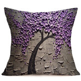 17-inch Cotton Linen Throw Pillow Case Sofa Waist Cushion Cover Home Office Decorations