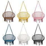 Macrame Swing Chair Kids Hanging Hammock Chair Max Load 125kg Outdoor Indoor Garden