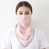 Summer Printing Neck Mask Sunscreen Scarf Outdoor Riding Face Mask Breathable Quick-drying