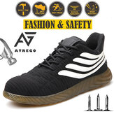 AtreGo Men Mesh Work Safety Boots Steel Toe Cap Anti-piercing Sport Hiking Shoes