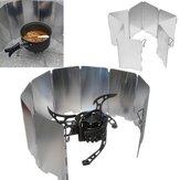 IPRee Camping Foldable Aluminum Plates BBQ Stove Wind Shield
