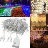 20 Mt 200LED Wasserdichte Fairy String Licht Weihnachten Outdoor Hochzeit Lampe EU Stecker AC220V