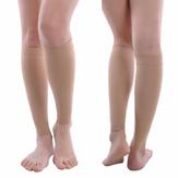 Chaussettes de compression de stockage pour varices fatigue veines en relief ci-dessous la thérapie de la jambe au genou 30-40 mmHg
