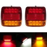 12v caminhão reboque 20 LED taillight virar sinal número de freio placa luz da lâmpada