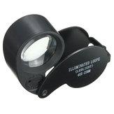 Eye Watch Magnifier Glas LED Licht Sieraden Lens Loupe 40 X 25MM