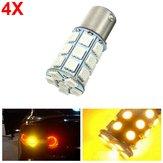 4pcs 21W 5050 27SMD LED Car Turn Signal Light Tail Lamp Reverse Bulb Yellow 12V