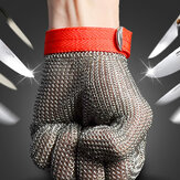 Safety Cut Proof Stab resistent rustfrit stål Metal Mesh Butcher Glove Størrelse M