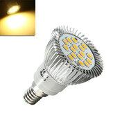 E14 6.5W 500-550LM Branco Quente 5630 SMD 16 LED Luminárias Spot Light 220V