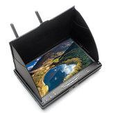EachineLCD5802S580240CHYarışbantı 5.8G 7 İnç Çeşitlilik Alıcı Monitör ile Build-in Batarya