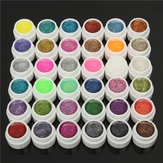 DANCINGNAIL 36 Colors 5ml Glitter Kecil Shiny Powder Gel UV Builder Nail Art DIY Manicure